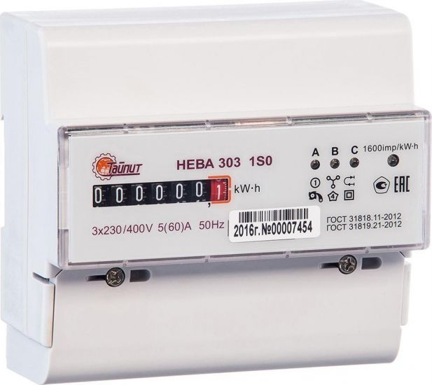 Счетчик электроэнергии НЕВА 303 1S0 230V 5(60) А
